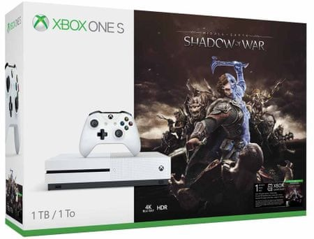 Microsoft igralna konzola Xbox One S 1TB + Middle-Earth: Shadow of War