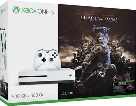 Microsoft igralna konzola Xbox One S 500 GB + Middle-Earth: Shadow of War