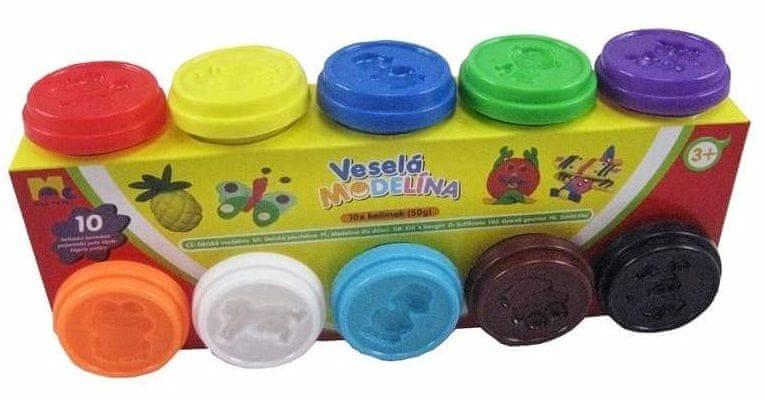 Mac Toys Modelína 10 x 50g, různé barvy
