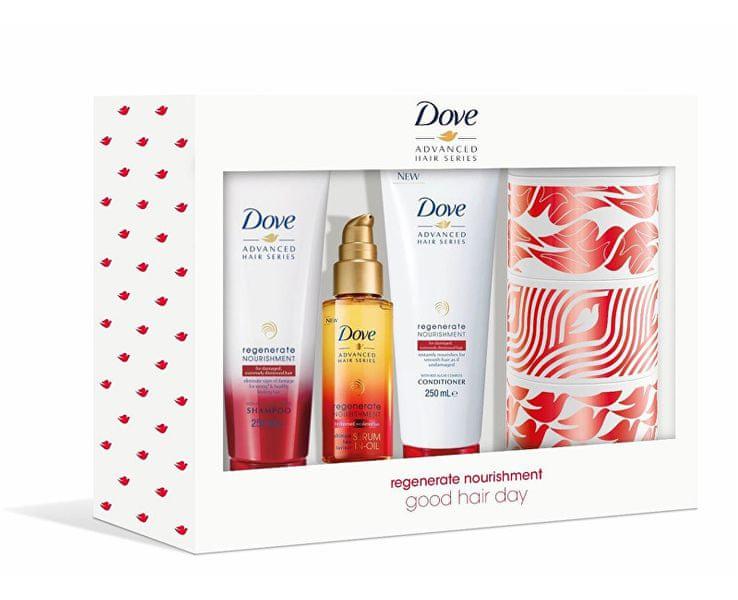 Dove Dárková sada péče o vlasy Good Hair Day + plechová krabička