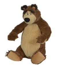 Simba Máša a medvěd - Plyšový medvěd sedící 25 cm