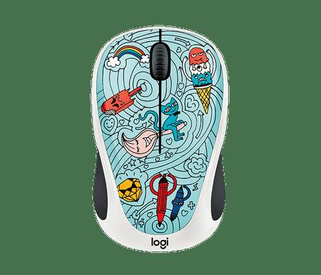 Logitech miška M238 Wireless, Bae-Bee Blue