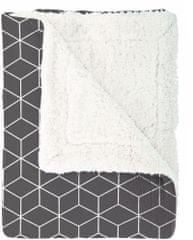 Mistral Home Pléd beránek Geometrie tmavě šedá 150x200 cm