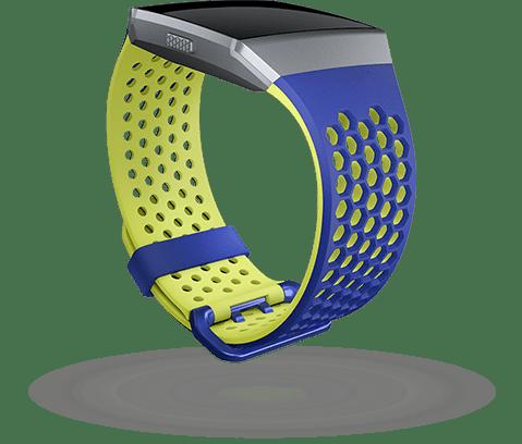 b1951b485 Fitbit Ionic - sportovní řemínek Modrožlutý - velikost L