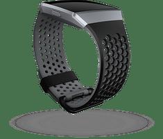 Fitbit Ionic - sportovní řemínek Černošedý - velikost S