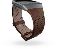 Fitbit Ionic - perforovaný kožený řemínek Cognac - Velikost L