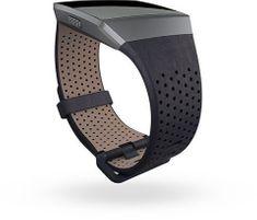 Fitbit Ionic - perforovaný kožený řemínek Midnight Blue - Velikost L
