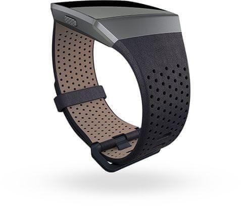 Fitbit Ionic - perforovaný kožený řemínek Midnight Blue - Velikost S