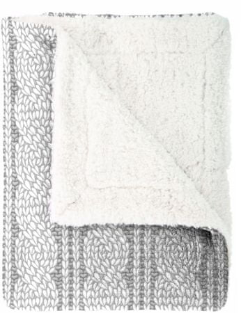 Mistral Home odeja Cable Knit, siva, 150 x 200 cm