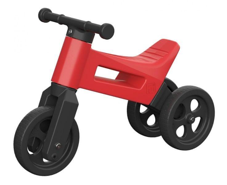 Teddies Odrážedlo Funny Wheels 2v1 červená