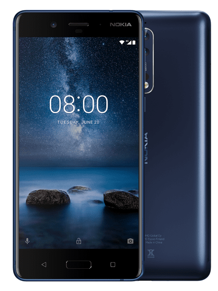 Nokia 8, 4GB/64GB, Dual-SIM, Tempered Steel