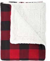 Mistral Home Scot army piros kockás műgyapjú takaró