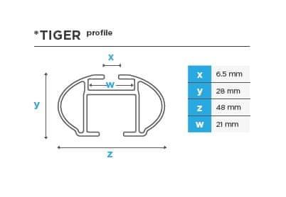 Menabo Tiger XL ALU strešni prtljažnik, 135cm