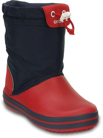 Crocs śniegowce Crocband LodgePoint Boot Kids Navy/Red 25,5