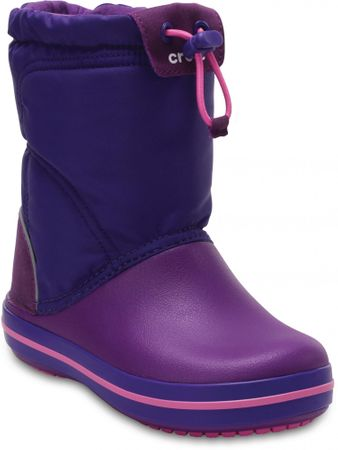 Crocs otroški škornji Crocband LodgePoint, vijolični, 32,5