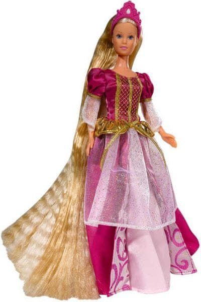 Simba Panenka Steffi Rapunzel - červené šaty