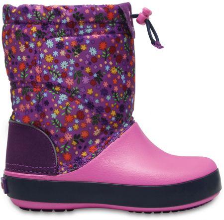 Crocs otroški škornji Crocband LodgePoint Graphic, vijolično-roza, 29,5