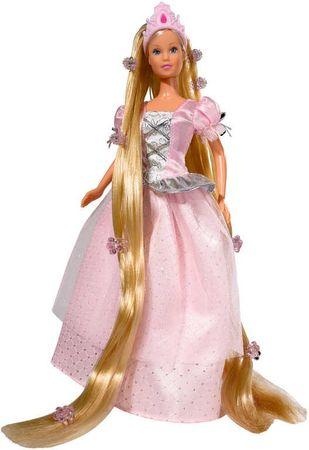 SIMBA Lalka Steffi Roszpunka, różowa sukienka