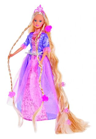 SIMBA Bábika Steffi Rapunzel - fialové šaty