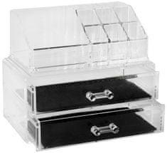 Compactor organizer na kosmetyki i biżuterię, 2 szuflady
