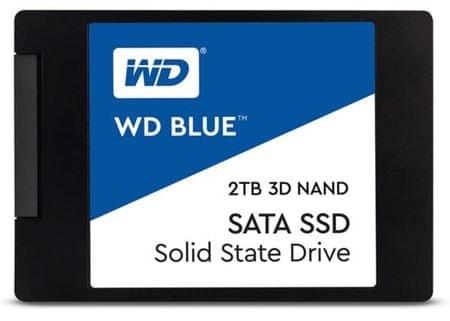 """WD SSD disk SATA 3 2 TB BLUE 3D NAND 6,35 (2,5"""") (WDS200T2B0A)"""