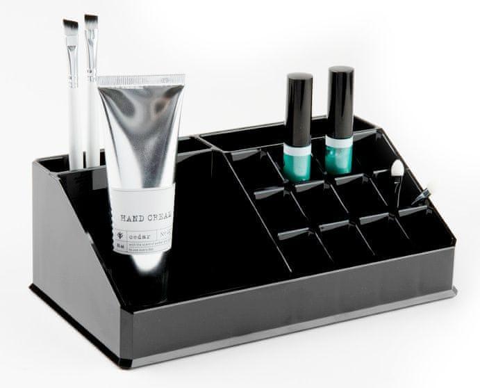 Compactor Organizér na kosmetiku 15 přihrádek, černý