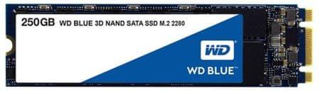 WD SSD disk SATA 3 250GB BLUE 3D NAND M.2 2280 (WDS250G2B0B)