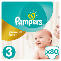 Pampers plenice Premium Care 3 Midi, 80 kosov
