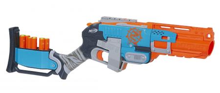 Nerf ZOMBIE Strike Pistole střílí 3 šipky najednou Sledgefire