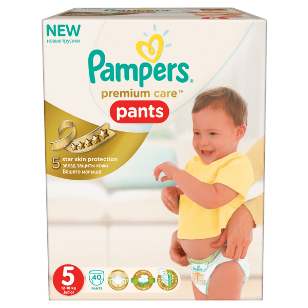 Pampers Plenkové kalhotky Premium Pants 5 Junior - 40ks
