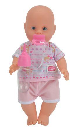 SIMBA A baba iszik, pisil 30 cm - rózsaszín ruhában