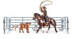 Schleich kowboj z lassem