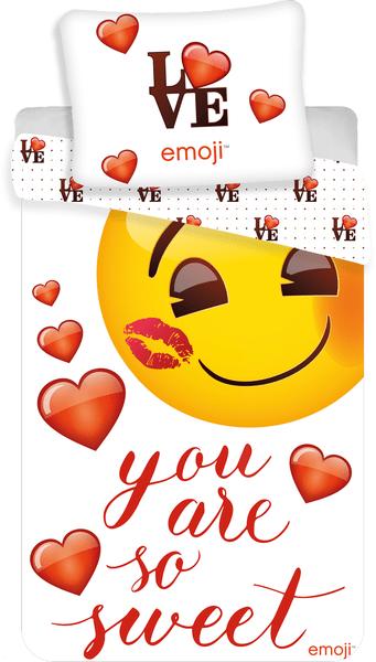 Jerry Fabrics Emoji povlečení You are so sweet