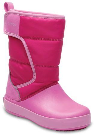 Crocs otroški škornji LodgePoint Snow Boot, roza, 24,5