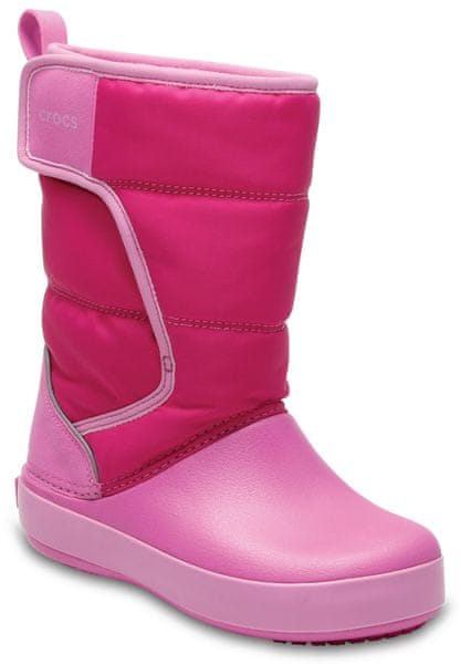 Crocs LodgePoint Snow Boot Kids Candy Pink/Party Pink 25,5