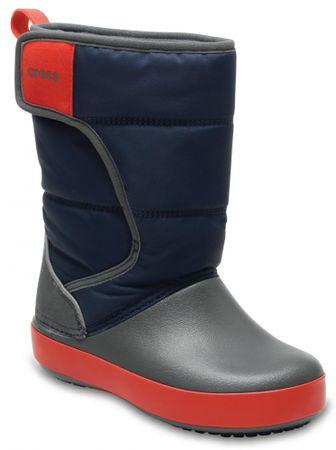 Crocs otroški škornji LodgePoint Snow Boot, sivo-modri, 30,5