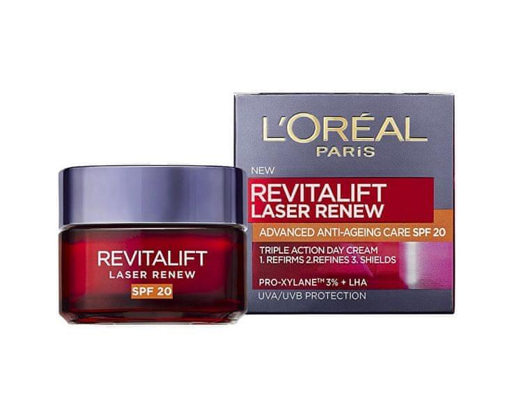L'Oréal Denní krém proti vráskám SPF 20 Revitalift Laser Renew (Advanced Anti-Ageing Care) 50 ml