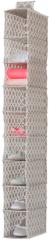 Compactor Madison závěsný organizér na boty, ponožky a prádlo 15x30x128 cm, 9 polic