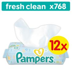Pampers Baby Fresh 12x64db Törlőkendő