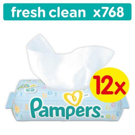 Pampers Vlhčené ubrousky Fresh Clean 12x64ks