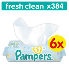 Pampers robčki Baby Fresh Clean, 6 x 64 kosov