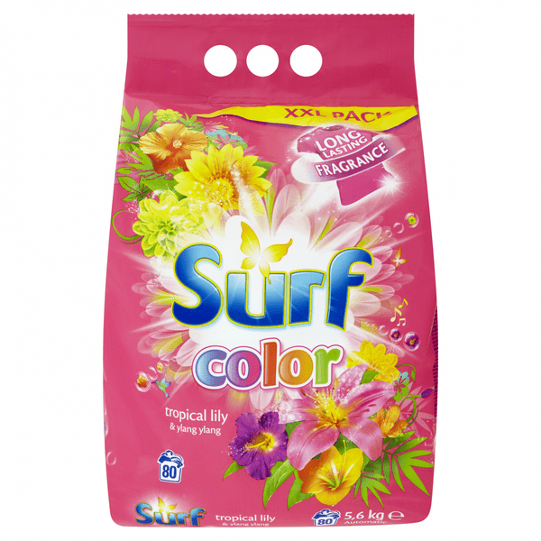 Surf Color prášek Tropical Lily & Ylang Ylang, 80 praní