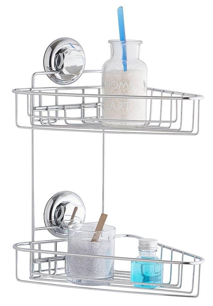 Compactor Dvojitá rohová polička do koupelny bez vrtání - zánovní