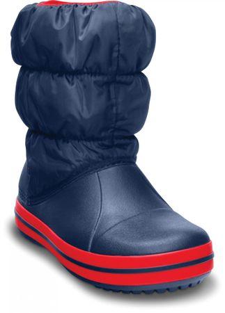 Crocs otroški zimski škornji Winter Puff Boot, modro-rdeči, 24,5