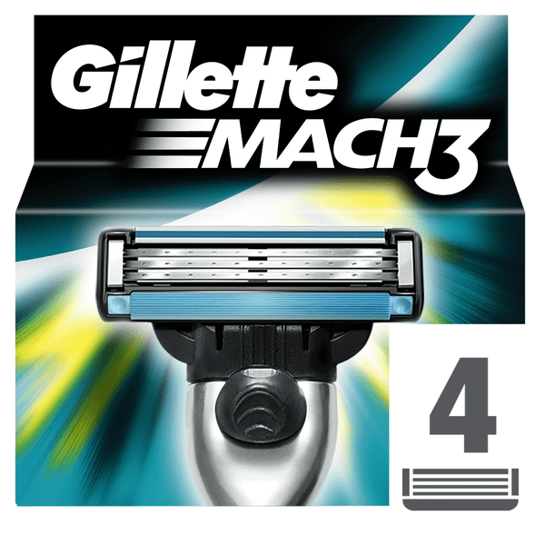 Gillette Mach3 náhradní hlavice 4 ks