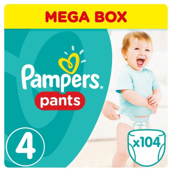 Pampers Plenkové kalhotky ActivePants 4 Maxi Mega Box 104 ks