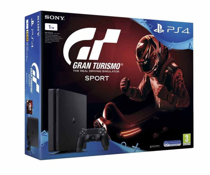 Sony PlayStation 4 Slim - 1TB + Gran Turismo Sport