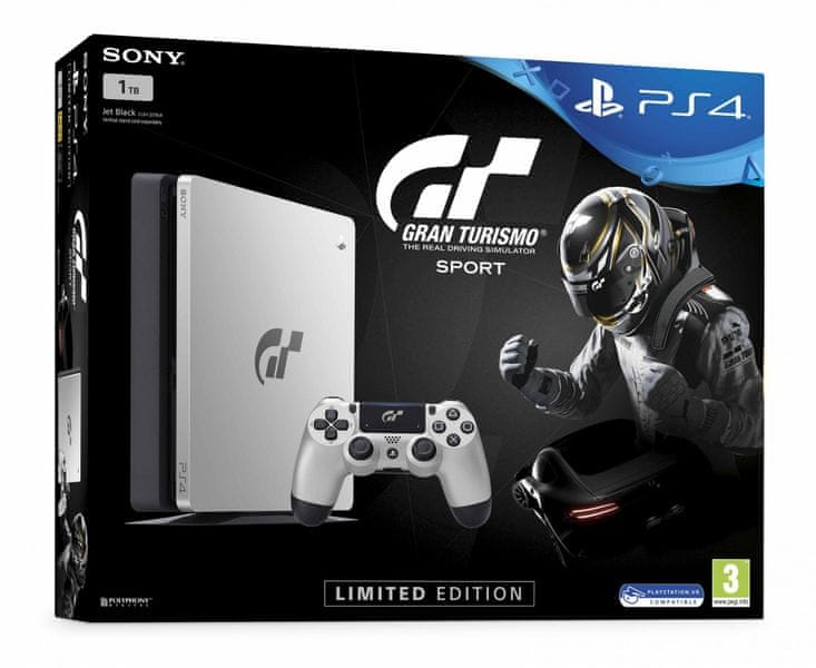 Sony PlayStation 4 Slim - 1TB + Gran Turismo Sport Limited Edition