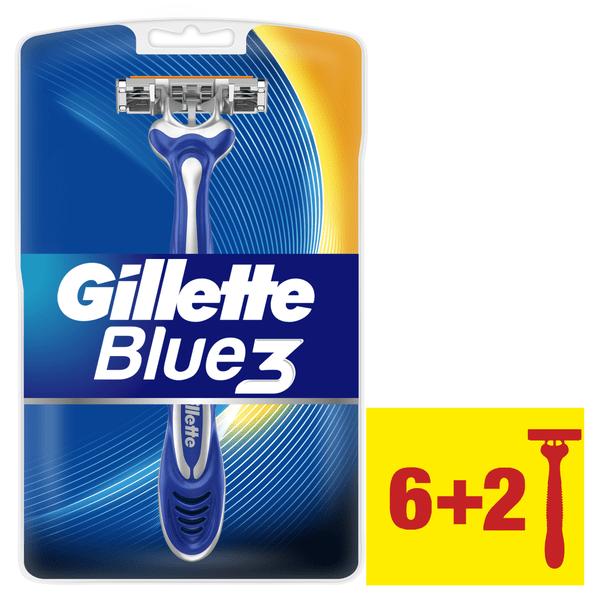 Gillette Blue3 jednorázová holítka 6 + 2 ks