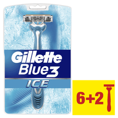 Gillette moška britvica Blue3 Ice, 6+2 kosov